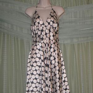 CHARLOTTE RUSSE Satin Polka Dot Halter Dress